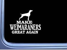 "Weimaraner Maga flag L701 Dog Sticker 7"" decal"