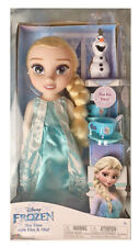 New Disney Store Frozen Doll Tea Time With Elsa and Olaf 3+