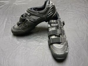 Shimano SPD Cycling Shoes Size US 11.5 SH-M 180B 3 Straps Black Excellent Cond.