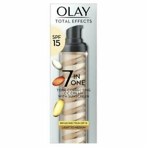 Olay Total Effects 7 in 1 Tone Correcting CC Cream SPF 15, 1.7 fl oz - New