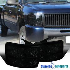 For 2007-2014 Chevy Silverado 1500 2500 3500 Headlights Smoke