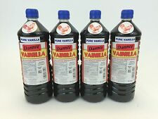 Four (4) Danncy Pure Mexican Vanilla Extract - Dark (1 Liter - Each)