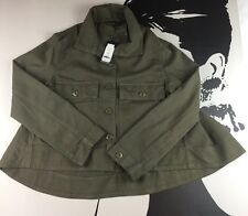 New Romeo & Juliet Couture Womens Short  Hi-Low Jacket Olive Medium MSRP: $195