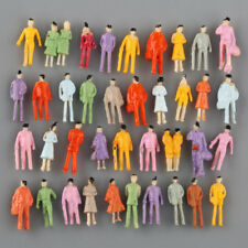 100pcs Painted People Figures 1:300 Model Train DIY Building Layout