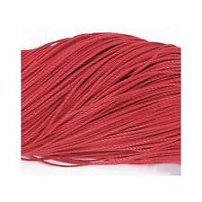 1 x Rood Gewaxt Polyester 10m x 1mm Leren Koord Continue Lengte Y06230