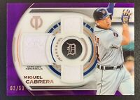 2019 Topps Tribute MIGUEL CABRERA Triple Relic Jersey Patch Relic SP /50