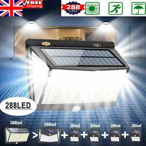 Super Bright 288 LED Solar PIR Motion Sensor Wall Security Light Outdoor Garden