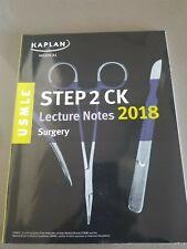 Kaplan Medical. USMLE Step 2 CK Lecture Notes 2018: Surgery