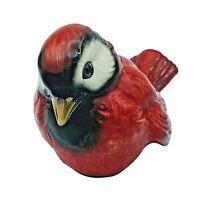 VTG Goebel Ceramic Porcelain Red Cardinal Sparrow Wren Bird CV74 West Germany