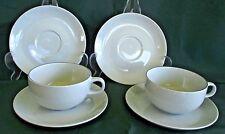 Royal Copenhagen Aluminia Faience Cups & Saucers 6 Pieces