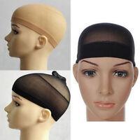2Pcs Wig Cap Wig Liner Wig Stocking Cap Black Neutral/Beige Nylon Stretch Black