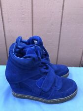 EUC ASH COOL 40 US 9.5 - 10 Women High Top Ankle Wedge Heels Sneaker Shoes A8
