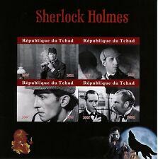 More details for chad film stamps 2021 mnh sherlock holmes movies basil rathbone 4v impf m/s i
