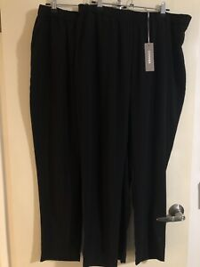 2 X Sussan 14 Jogger Style Black Corporate Elastic Waist Tapered Leg Pants. BNWT