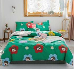 3D Flower Girl ZHUA2026 Bed Pillowcases Quilt Duvet Cover Set Queen King Zoe