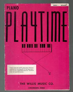 Piano Playtime Book E Advanced Sheet Music