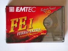 Cassette audio EMTEC 60 FEI FERRO EXTRA lotto 10 musicassette vergini TAPE