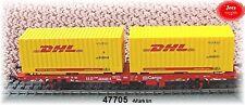 """Märklin 47705 Containerwagen Lgns 570 """"DHL"""" der DB AG#NEU in OVP#"""