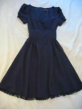 Betsey Johnson Crepe & Tulle Corset Sash Dress - Sz 6 - Gorgeous & Sexy! NWT