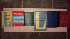 5 französische Wörterbücher, versch. Herausgeber, teils antik