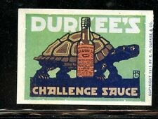 USA Durkee's Food Spices Poster Stamp @1915 Turtle Sauce Worcestershire Steak