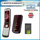 New Condition classic Nokia 2720 Red Flip Fold Mobile Phone Brand Unlocked