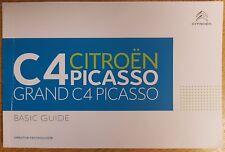 CITROEN C4 PICASSO & GRAND PICASSO BASIC GUIDE HANDBOOK 2013-2017 BOOK # A-205
