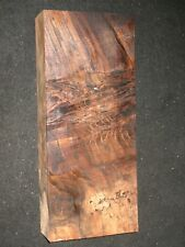 Curly Claro Walnut Burl Lumber Block Carving Craft Art Knife Call 16