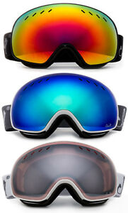 Snow Ski Goggles Anti Fog Dual Lens UV Protection 3 Layers Foam with Pouch