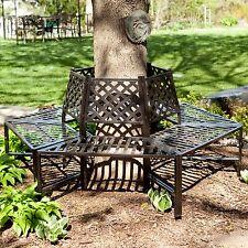 Metal Tree Wrap Bench Furniture Decor Outdoor Home Living Garden Backyard Patio
