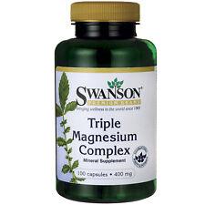 Swanson Triple Magnesium Complex 400 mg 100 Caps Oxide/Citrate/Aspartate