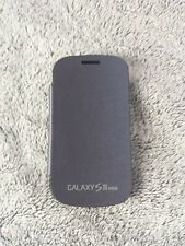 Samsung Galaxy S3 mini FLIP COVER dunkelblau Schutzhülle i8190 smart case blue