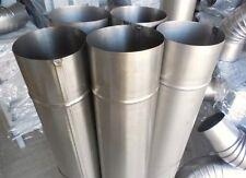 SET OF STEEL FLUE PIPES (3 PIPES + 2 ELBOWS) 110 MM DIAMETER