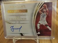 2015-16 PANINI IMMACULATE COLLECTION AUTOGRAPHS JONAS VALANCIUNAS AUTO /99