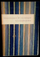"""1956 FLAT SIGNED Marianne Moore """"Idiosyncrasy & Technique"""" FINE French Folds"""