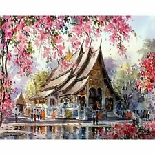 Cottage Landsce Painting By Numbers Acrylic Canvas Abstract Wall Art Home Decors