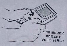 """NWT nintendo GAME BOY """"you never forget your first"""" X-LARGE XL T-SHIRT retro NEW"""