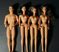 VINTAGE LOT BARBIES AND KEN DOLL LOT OF 4       1 1980 AND 3 1990 DOLLS