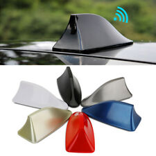 Black Shark Fin Roof Antenna Aerial FM/AM Radio Signal Decor Car Trim Universal