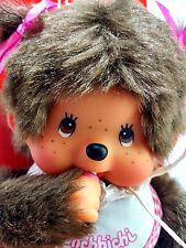 "Monchhichi 2014 Japan Teddy Stuffed Bear Baby Girl Toddler 7"" Vinyl Plush MIP"