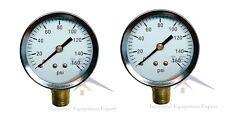 2 Air Compressor Pressurehydraulic Gauge 2 Face Side Mount 14 Npt 0 160 Psi