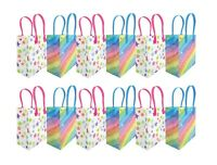 Rainbow Themed Themed Party Favor Treat Bags, 12 Pack
