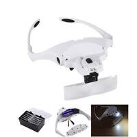 Occhiali con Lente di Ingrandimento 5 Lenti e Luci LED per Lavoro di Precisione