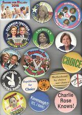 New listing 17 Vintage Feminist pin Feminism Women Issues Pro Choice Hillary Clinton Etc #5