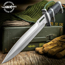 "16"" Gil Hibben Custom Fixed Blade Knife Bowie Hunting Survival Wood w/ Sheath"