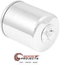 K&N Chrome Canister Oil Filter For Harley Davidson FXLR /FLHTCUL Electra KN-171C