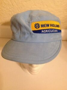Vintage New Holland Agriculture Tractor Driver Cap Light Blue RARE