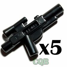 NEW LEGO - Weapon -  Star Wars - 5x Black Blaster Short - GENUINE lego