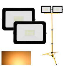 2X 50W LED Fluter Mit Stativ Scheinwerfer Außenleuchte Flutlicht Warmweiß