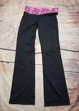 VS PINK Size S Yoga Pants Pink Leopard Print Foldover A04
